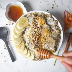 Creamy Banana & Peach Oat Bowl