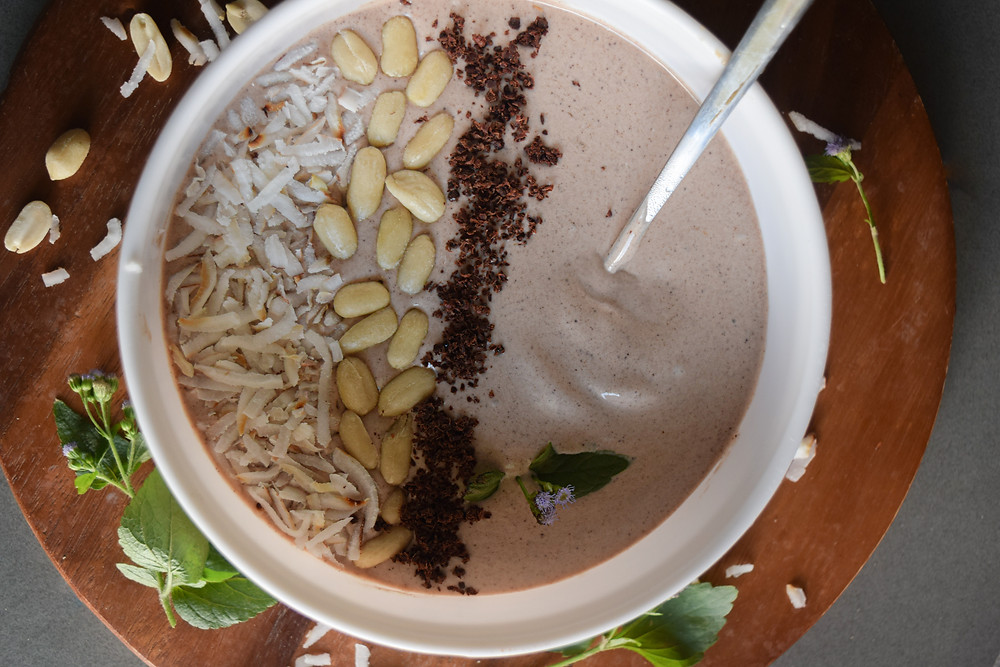 butter of choice), cacao, bananas... YUM! Comforting, delicious, plant-based, and healthy sweet morning treat!