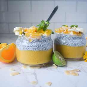 Orange, Mango & Banana Chia Pods