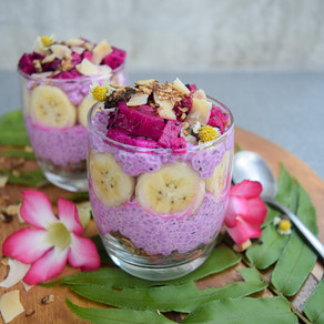 Pink Chia Pudding Parfaits