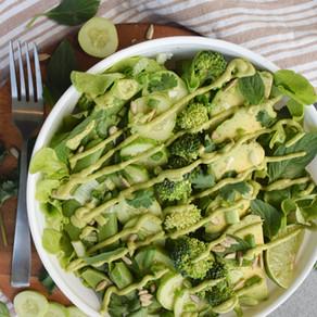 Raw Green Goddess Salad