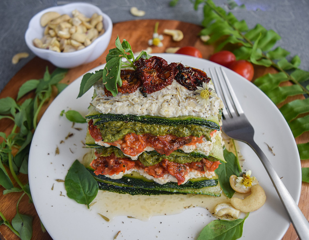 This raw, vegan, gluten-free lasagna recipe is so surprisingly simple! It uses minimal ingredients for easy digestion. Loaded with nutrients from whole, real and fresh foods - no chemicals or preservatives! It tastes so good and leaves you feeling so healthy and satisfied, I think you'll always start to opt for this lean, clean and green lasagna recipe.