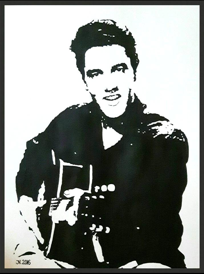 Elvis Presley   Acryl auf Aquarellkarton   40 x 30cm