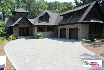 Driveway Cover Cobble Design Landscape C