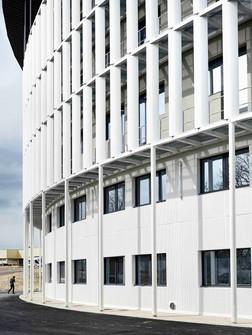 Travaux d'extension de l'hôpital de Creil par l'entreprise de Construction Brézillon