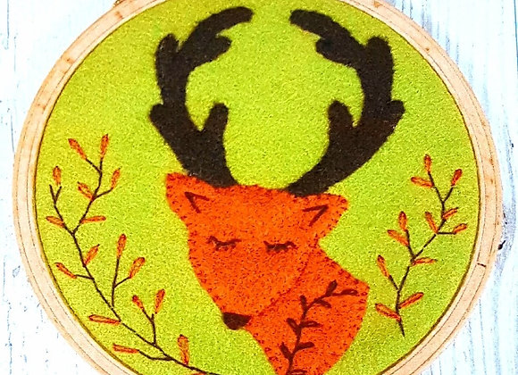 stag hoop embroidery kit