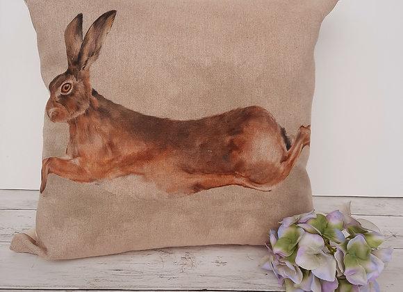 "Hare cushion cover 18"""
