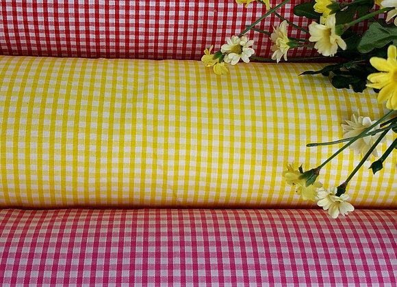 Gingham fabric quarter inch