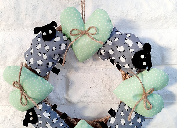 """Love ewe"" door/wall decoration craft kit diy"