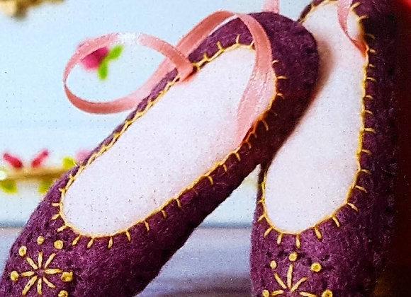 Dancing shoes sewing craft kit