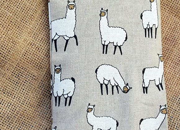 Wheat bag with animal print fabric