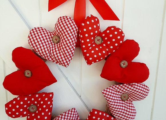 Red Hearts craft ring  kit diy