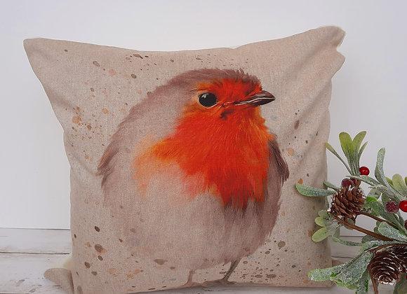 "Robin cushion cover 18"""