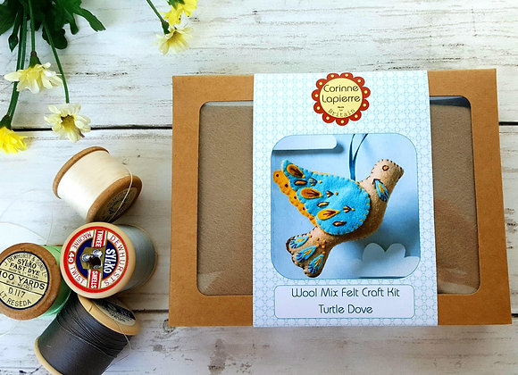 Turtle dove sewing craft kit