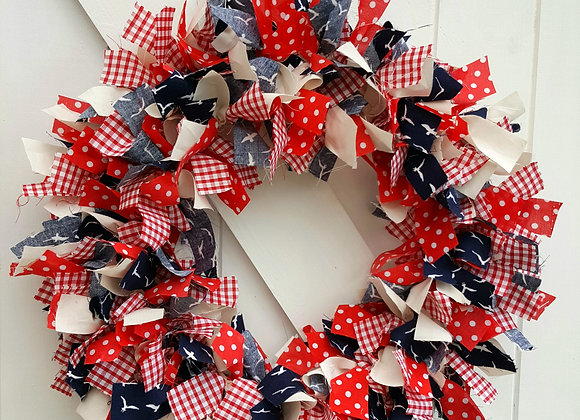 Red, white and blue theme wreath kit