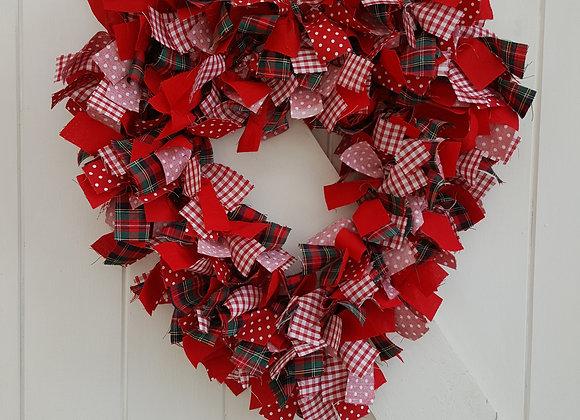 Heart Rag Wreath Making Kit