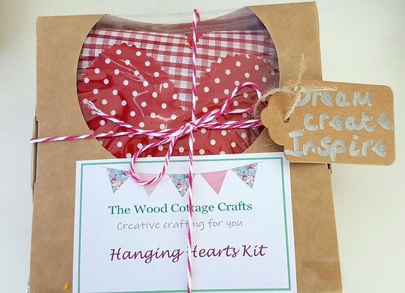 Hanging hearts craft kit
