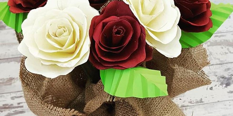 Mother's day paper rose workshop