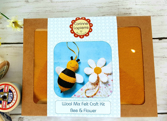 Bee and flower sewing craft kit