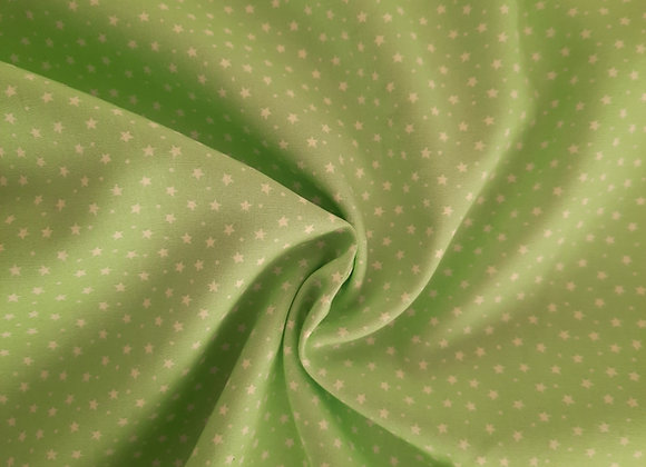 Pistachio star cotton poplin