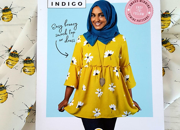 Tilly and the Buttons Indigo kit includes pattern, fabric, interfacing & thread