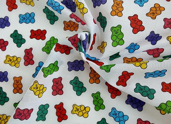 Gummy bear sweet theme fabric