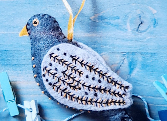 Colly bird embroidery kit from Corinne Lapierre