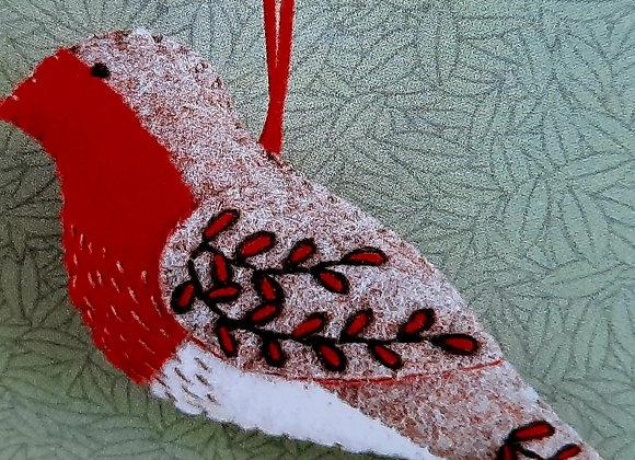 Corinne Lapierre robin embroidery robin kit