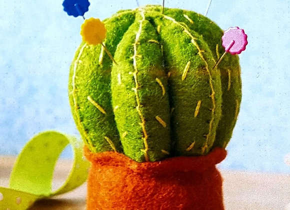 Cactus pin cushion sewing craft kit
