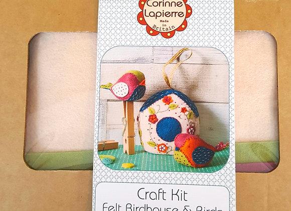 Felt birdhouse and birds craft kit Corinne Lapierre