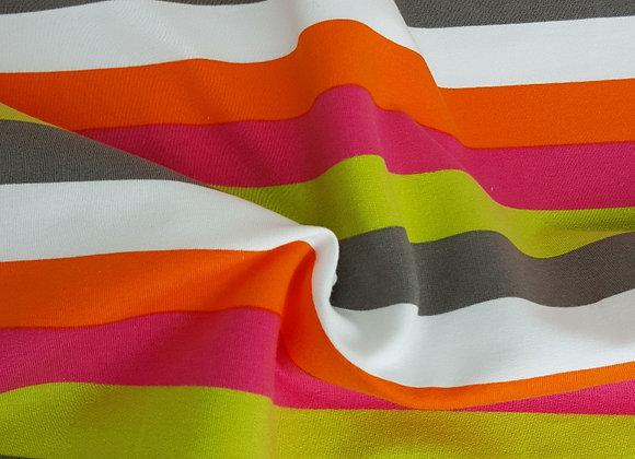 Wide stripe jersey fabric