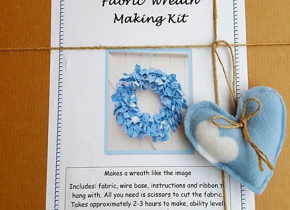 Blue wreath making craft kit