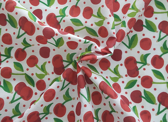 Vintage style cherry fabric