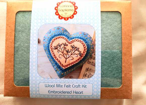 Corinne Lapierre embroidered heart kit