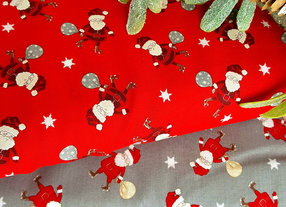 Rose and Hubble Christmas Santa fabric