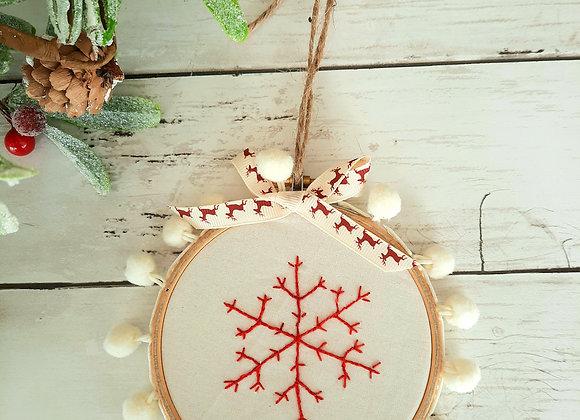 Mini snowflake hoop kit