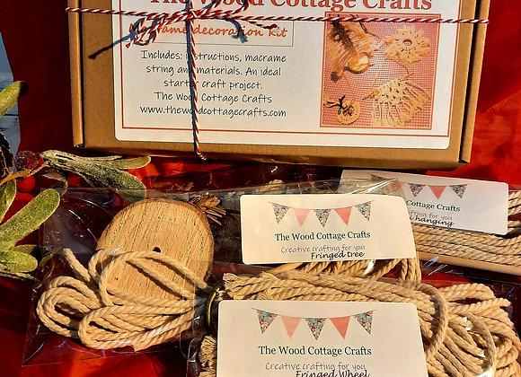 Macrame decoration craft kit to make 4 different designs