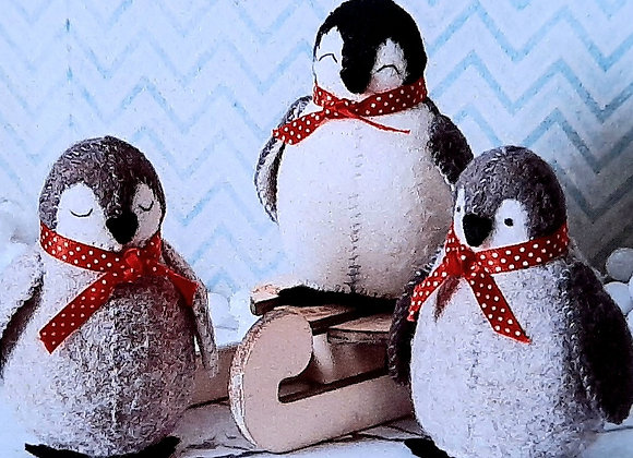 Corinne Lapierre sewing craft pack of penguins