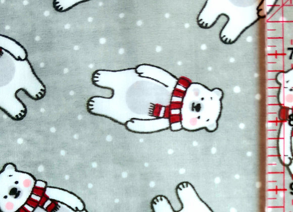 Christmas polar bear polycotton
