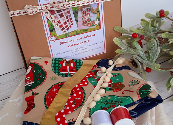 Advent calender and stocking kit diy