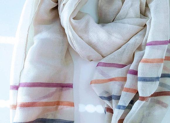 Summer light stripe scarf