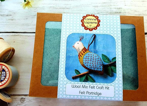 Partridge decoration  sewing kit