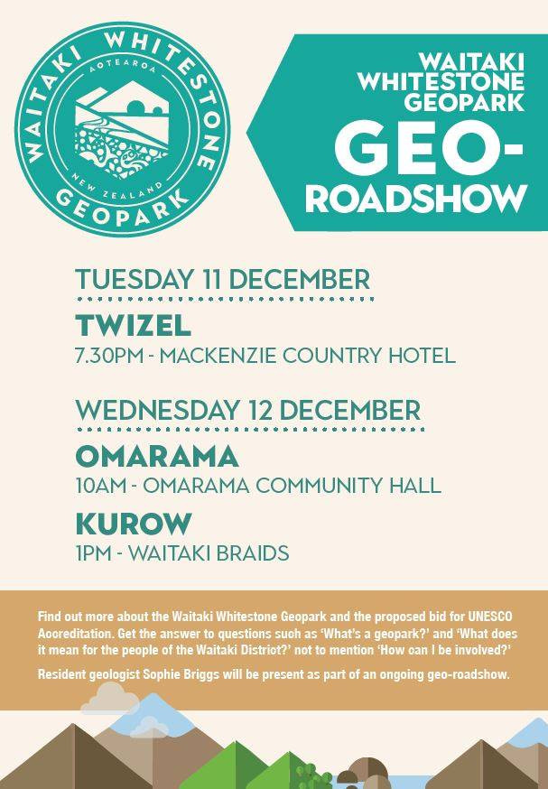 Poster of Geo-roadshow with locations and time