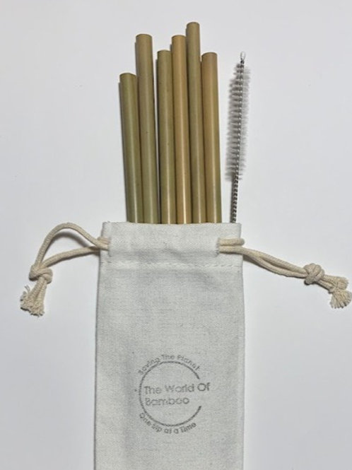 Bamboo straw bundle