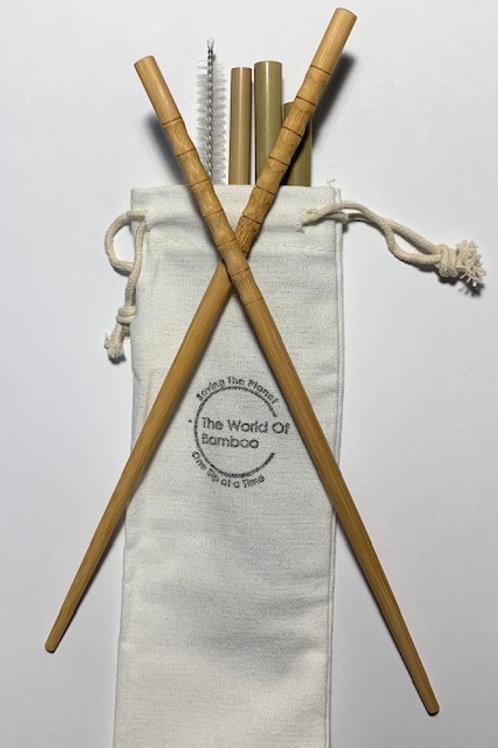 Bamboo Chopstick Straw Bundle