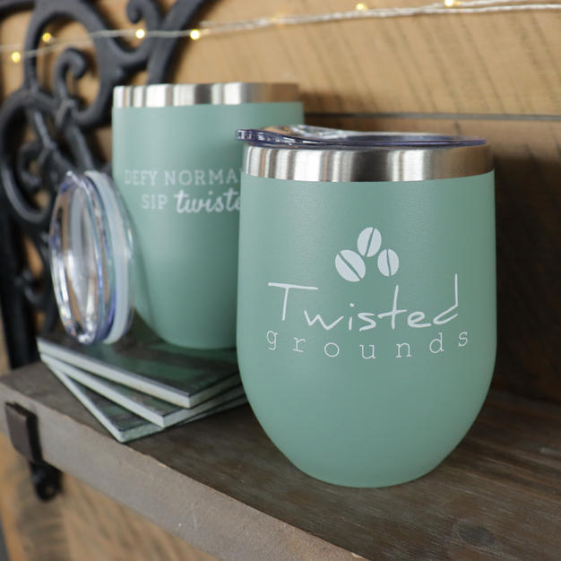 Green Wine Tumbler | 12oz