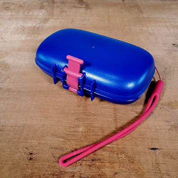 Portineer Carry-Dri EZ Blue Travel Soap Holder with Red Lanyard