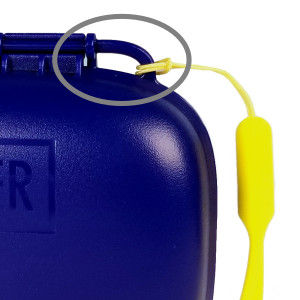 Portineer Carry-Dri EZ travel soap container with two lanyard loops