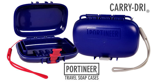 Portineer Carry-Dri travel soap cases are used around the world