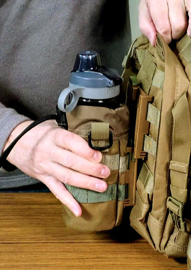 Portineer P1 MOLLE Connector connecting from bottom